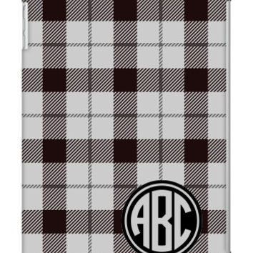 Plaid Monogram iPad Air Slim Case