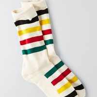 AEO Men's Pendleton Glacier National Park Crew Socks (White)