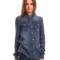 Washed denim shirt by Vila Clothes