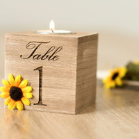 table numbers wedding Sunflower Wedding Centerpieces table Number Holders Table Number Holder Wedding Candle holder for Wedding Party Decor