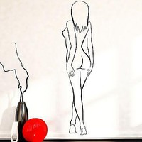 Wall Decal Sexy Naked Nude Girl Woman Beauty Vinyl Sticker Unique Gift (z3595)