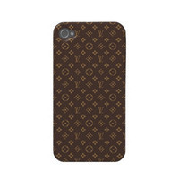 iphone 4 case, iphone hard case, iphone 4s hard case, iphone 4 decal, iphone cases, iphone 4 case decoupage - Louis Vuitton Pattern