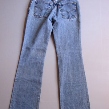 Vintage 90s Levis Boot Cut Jeans 517 Denim Blue 5 Jrs USA 26""
