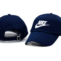 Unisex Cool Navy Blue Nike Embroidered Baseball Cap Hat