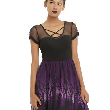 Disney Villains Dark Forest Dress