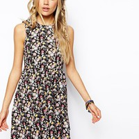ASOS Reclaimed Vintage Smock Dress In All Over Floral Print - Multi