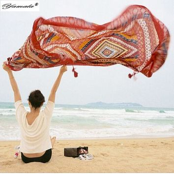 ESBU3C Yamala Indian Hippie Tapestry mandala Beach Yoga Mat  Bohemian wall tapestry  Colored Printed Decorative Shawls  Scarves