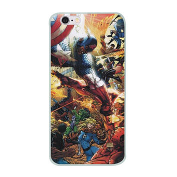 "Captain America Vs. Iron Man (Civil War) TPU Silicone Case for Iphone 6/6s (4.7"")"
