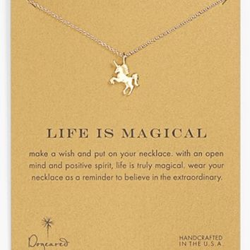 Dogeared 'Reminder - Life is Magical' Boxed Unicorn Pendant Necklace | Nordstrom