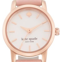 Women's kate spade new york 'tiny metro' leather strap watch, 20mm - Dusty Pink