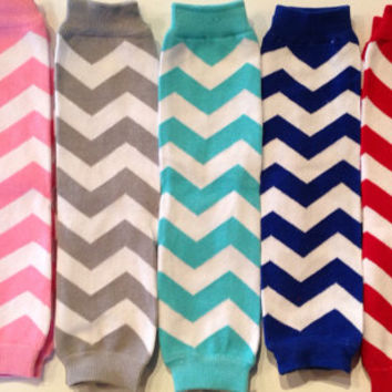 SALE Chevron Leg Warmers Girl Baby Toddler Shabby Chic Flower Bowtique Accessory Birthday Photo Prop Aqua Pink Gray Blue Red White Arm Tutu