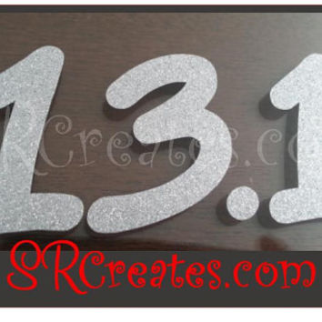 Runner Decal -13.1, Silver Glitter