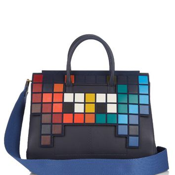 Space Invaders Ephson leather bag | Anya Hindmarch | MATCHESFASHION.COM US