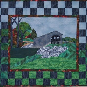Quilt Pattern:  Covered Bridge Wall Hanging