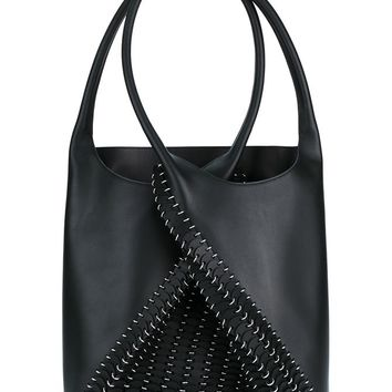 Pliage Leather Bucket Bag - PACO RABANNE