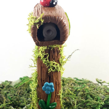 Fairy garden accessories. Miniature mailbox. Perfect for fairy garden, dollhouse, or terrarium.