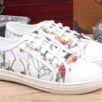 Gucci Women's Leather Fashion Casual Sneakers Shoes