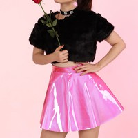 Made To Oder - Lizzie Hot Pink Hologram Skirt