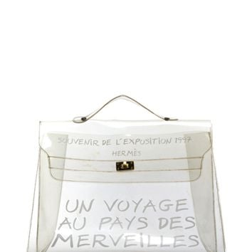 Hermes Pre-Owned Hermes Clear Souvenir De L'exposition Kelly Bag | Bluefly