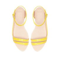 ASYMMETRIC FLAT SANDALS - Shoes - Woman - ZARA United States