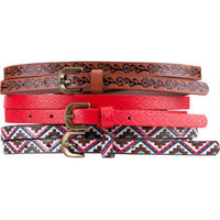 3 Pack Ethnic Skinny Belts 198862957 | Accessories | Tillys.com
