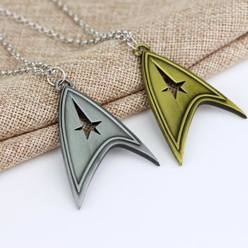 Star Trek Logo Necklaces Marvel Comic Series Hot Movie Cosplay Metal Pendant Fashion Jewelry For Women and Men  free shipping