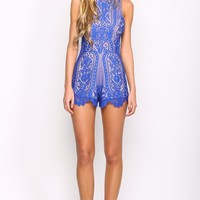 HelloMolly | Unconditional Playsuit Cobalt - Playsuit - Dresses