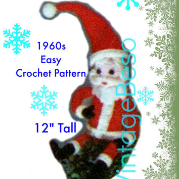 EASY Santa CROCHET Pattern Vintage 1960s Christmas Santa Soft Toy Jolly Santa Stuffed Soft Toy Gift Instant Download PDF Pattern