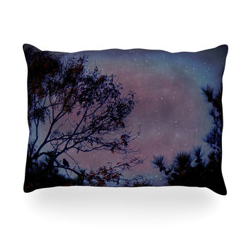 "Robin Dickinson ""Twilight"" Purple Tree Oblong Pillow"