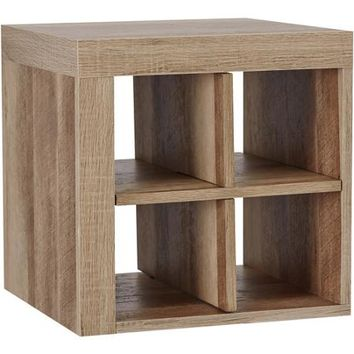 Better Homes and Gardens Cube Storage Shelf, Quad, Rustic - Walmart.com