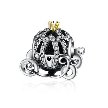 Sterling Silver Cinderella Pumpkin into Carriage Charm