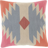 Surya Cotton Kilim Throw Pillow Gray, Neutral