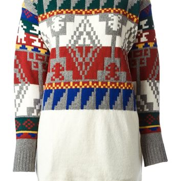 Sacai Aztec pattern sweater
