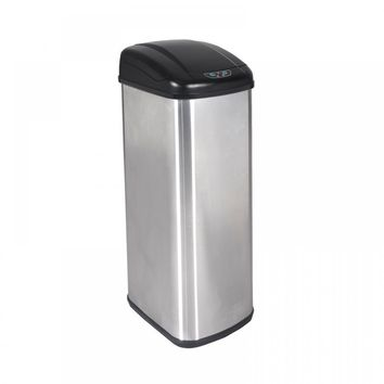 New 13 Gallon Touch-Free Sensor Automatic Stainless-Steel Trash Can Kitchen 13G