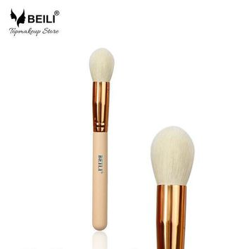 PEAPYV3 BEILI 105# Rose Golden Ferrule Pink Handle Natural Goat Hair Cosmetic Blusher Highlighter Makeup Brushes