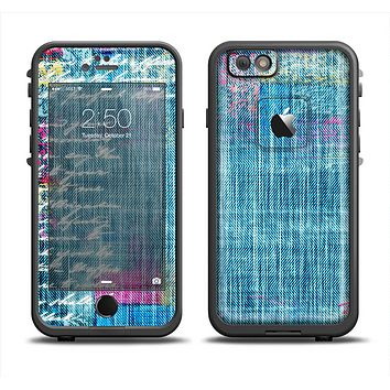 The Sketched Blue Word Surface Skin Set for the Apple iPhone 6 LifeProof Fre Case