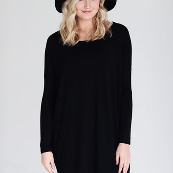 Black PIKO Long Sleeve Tunic