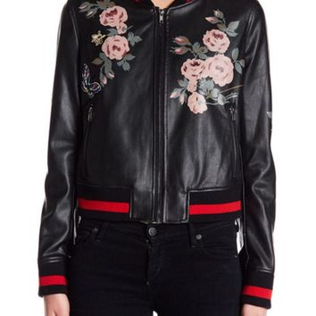 DCCKHB3 Bagatelle | Floral Painted Bomber Jacket