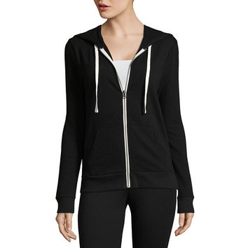 Flirtitude Long Sleeve Zip Up Hoodie Juniors JCPenney