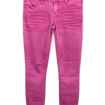 Gap Jeans 1969 Always Skinny Stretch Pink Wash Womens 25 / 0R Actual 27 x 27.5 - Preowned