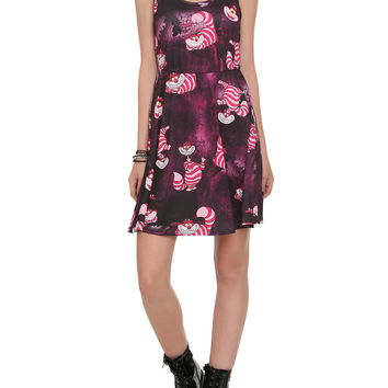 Disney Alice In Wonderland Cheshire Cat Print Dress