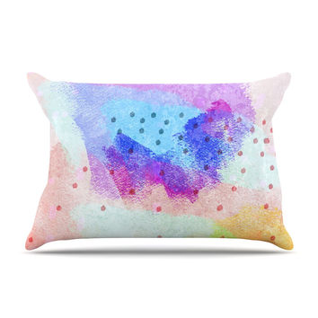 "Iris Lehnhardt ""Summer Pastels"" Multicolor Painting Pillow Case"