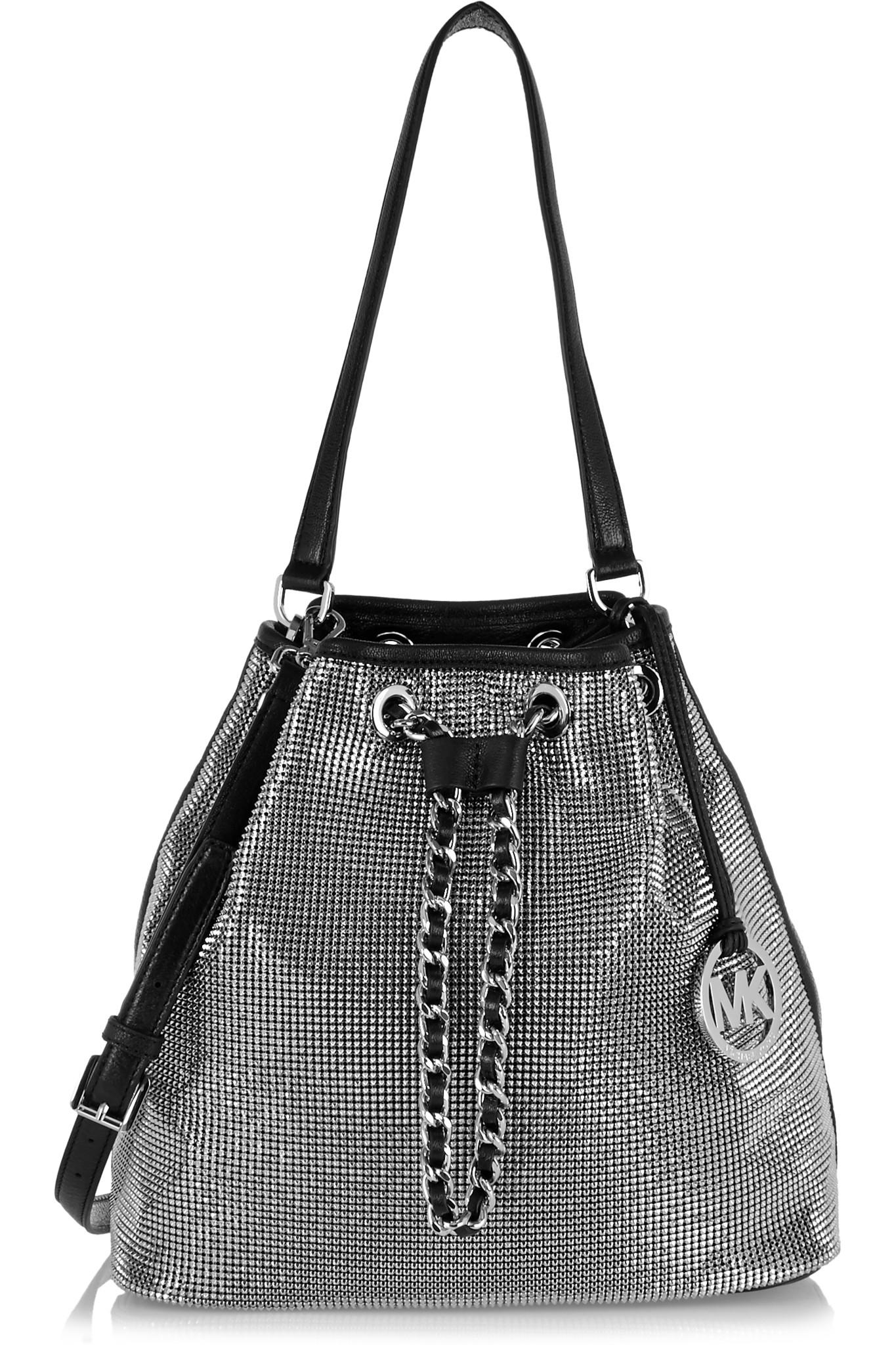 70ffeb8f1620 MICHAEL Michael Kors - Frankie Mesh leather and chainmail shoulder bag