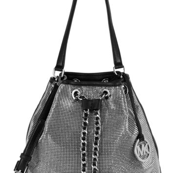 MICHAEL Michael Kors - Frankie Mesh leather and chainmail shoulder bag