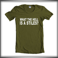 What The hell is stiles Stilinski teen wolf Women Tee Tshirt