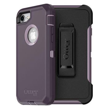 PEAPGQ6 OtterBox DEFENDER SERIES Case for iPhone 8 & iPhone 7 (NOT Plus) - Frustration Free Packaging - PURPLE NEBULA (WINSOME ORCHID/NIGHT PURPLE)