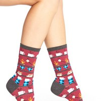 Women's Hot Sox 'S'mores & Hot Cocoa' Crew Socks , Size 9/11