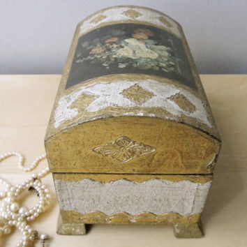 florentine italian gilt jewelry box by ionesAttic on Etsy