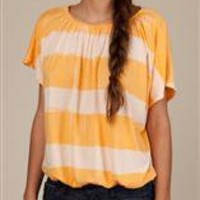 Women's Short Sleeve | Striped Mirage Top | Alternative Apparel
