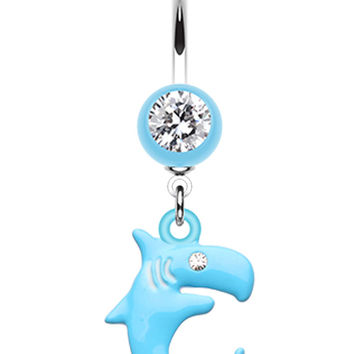 Shark Attack! Belly Button Ring